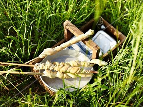 Stick bread for a picnic