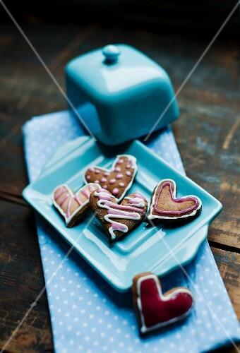 A gingerbread heart