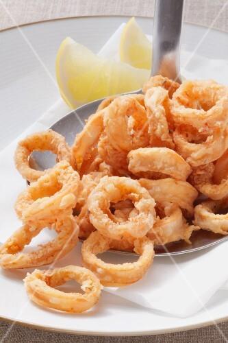 Plate of Fried Calamari