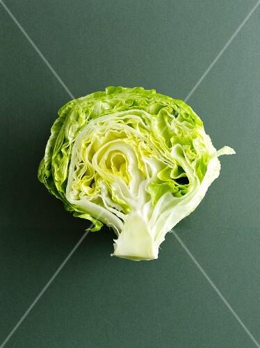 Half an iceberg lettuce