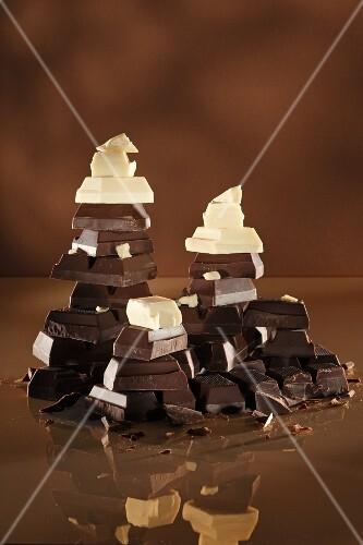 Stacks of chocolate
