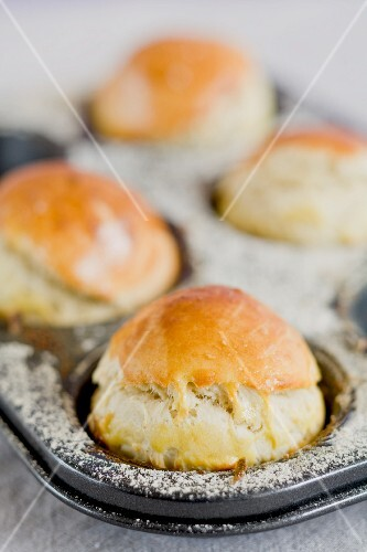 Scones in a baking tin