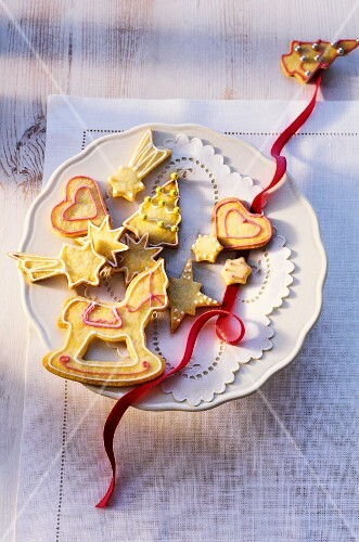 Colourful shortbread biscuits for Christmas