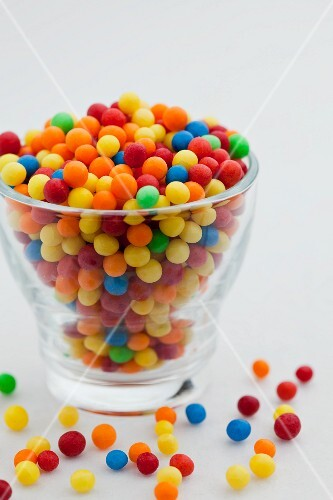 A bowl of colourful bonbons