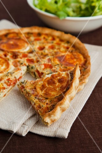 Tomato tart with goat's cheese