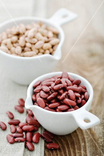 Kidney beans and pinto beans