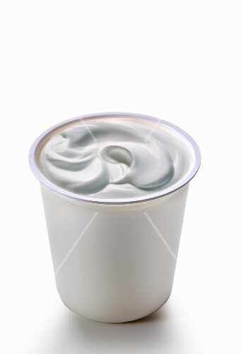 A pot of creamy yogurt