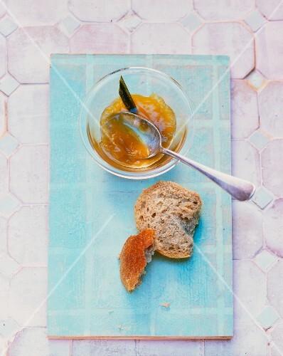 Mango jam with coriander, ginger and pandan