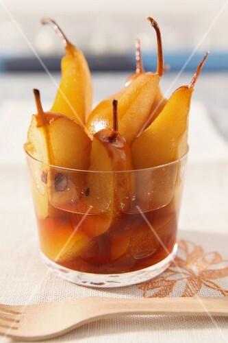 Caramelised pears
