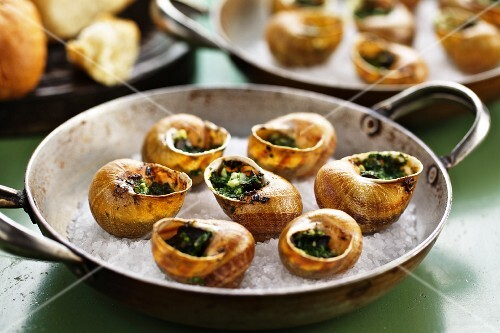 Vineyard snails with parsley butter
