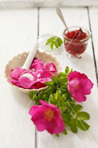 Sugared wild roses