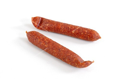 Two hard sausages from Rotterdam
