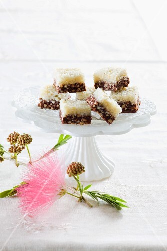 Chocolate and almond slices