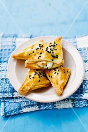 Tiropitakia (shortbread pockets with cheese filling)