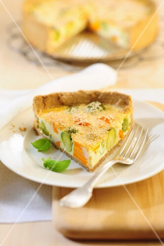 Vegetable quiche with Brussels sprouts
