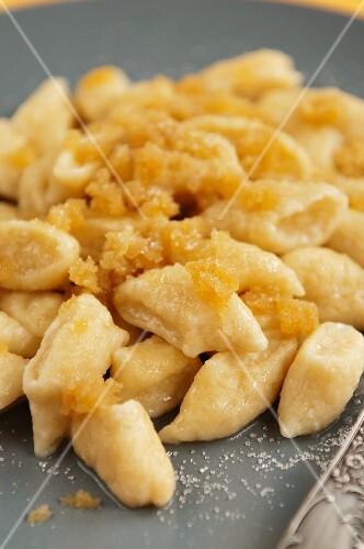 Pierogi leniwe (Polish cheese dumplings)