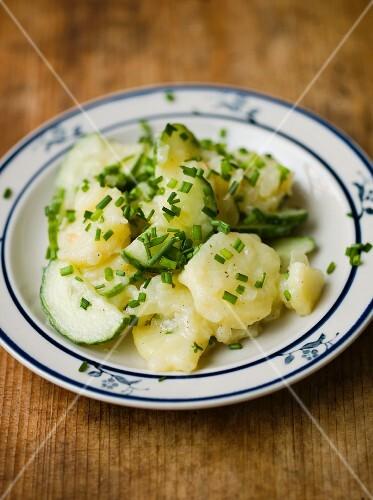 Potato and cucumber salad