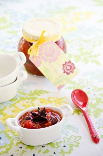 Cherry and tomato chutney from the Dominican Republic