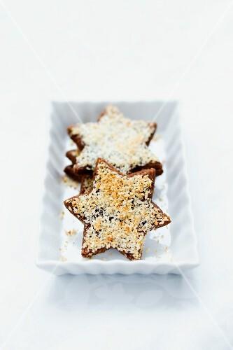 Chocolate and coconut stars