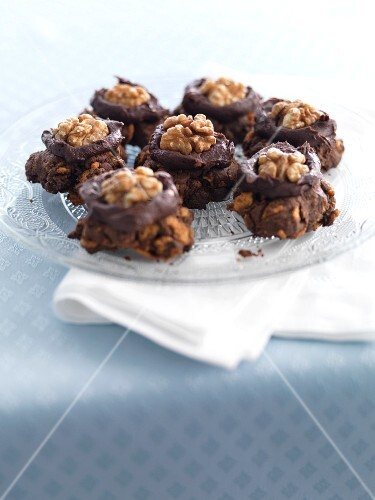 Afghan cookies with walnuts