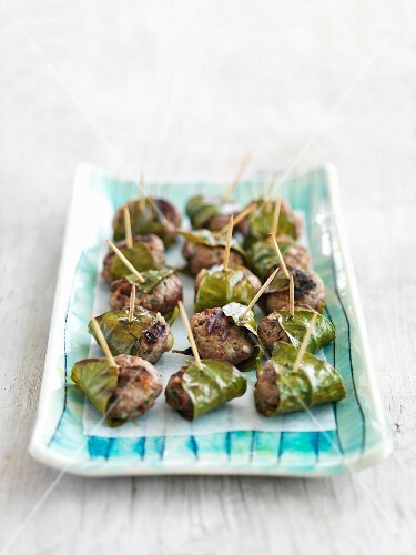 Meat balls with lime leaves (Thailand)