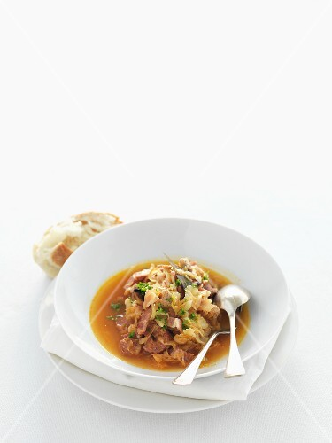 Sauerkraut stew with sausages (Poland)