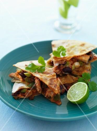 Tortilla corners with pork
