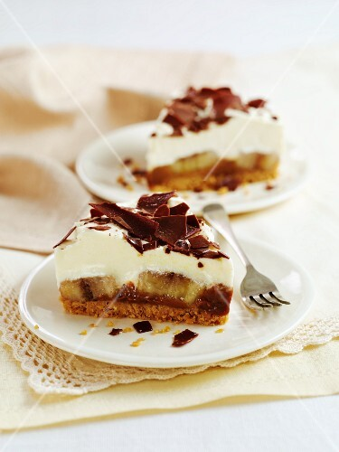 Two slices of banoffee pie