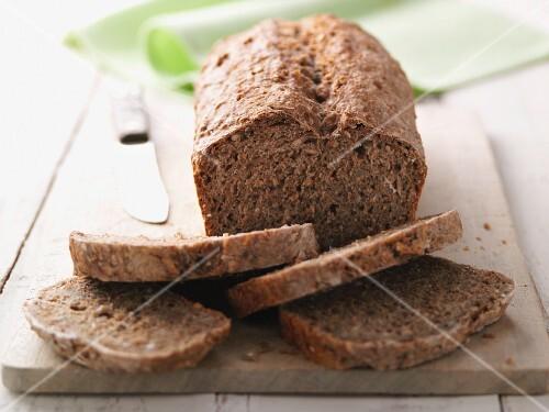 Ancient grain bread, sliced