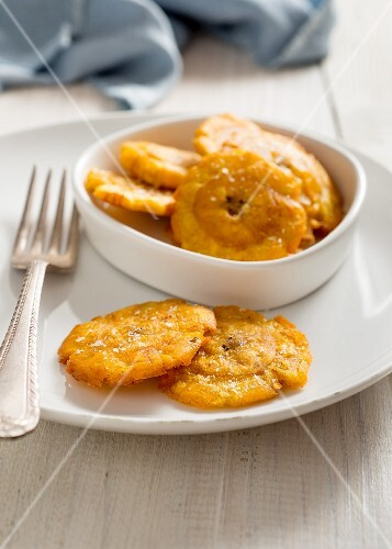 Patacones (fried plantains, Columbia)