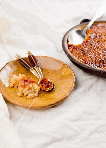 Caramelised rice and coconut pudding from the Caribbean