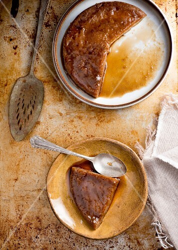 Cassava pudding from the Caribbean
