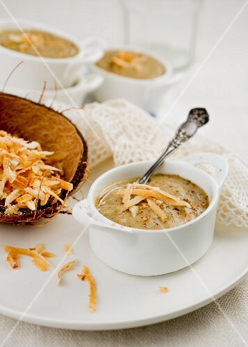 Sweet potato pudding with coconut (Caribbean)
