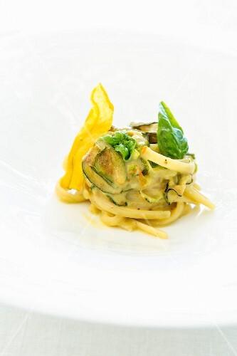 A dish from the restaurant Quattro Passi: pasta alla nerano, Amalf coast, Italy