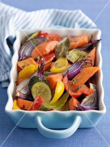 Mixed roast vegetables
