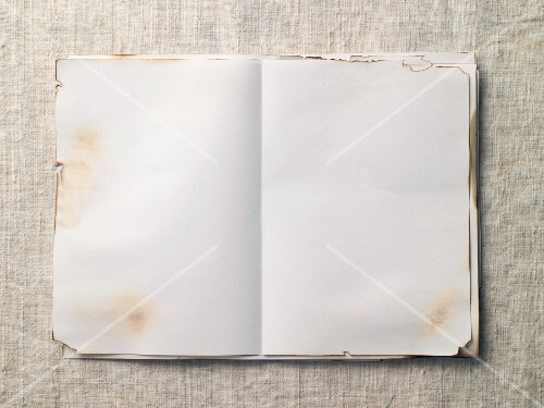 Stained white pages