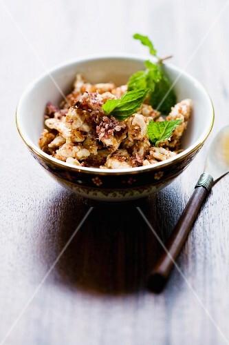 Laab Gai (warm chicken salad, Thailand)