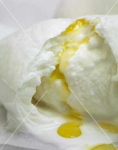 Mozzarella with olive oil (close-up)