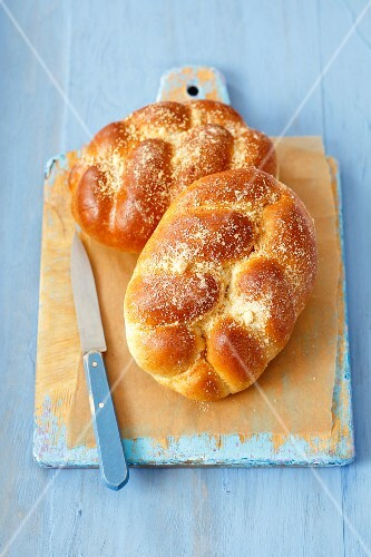 Two Loaves of Challah Bread