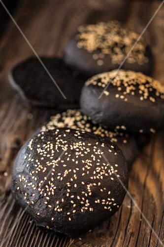 Black burger buns