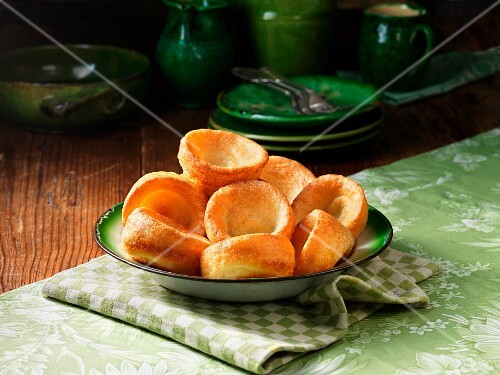 Yorkshire puddings in a ceramic bowl