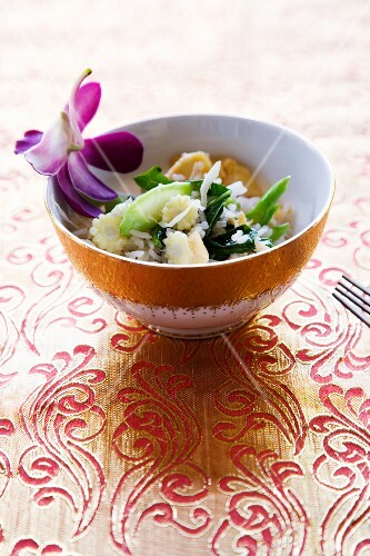Khao Pad Pak (fried rice with vegetables, Thailand)