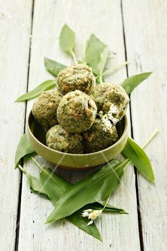 Wild garlic dumplings