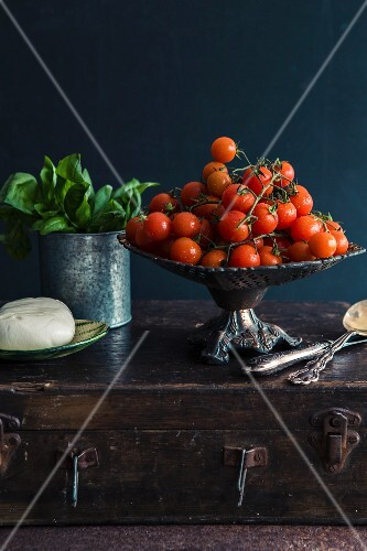 Tomato, basil and mozzarella