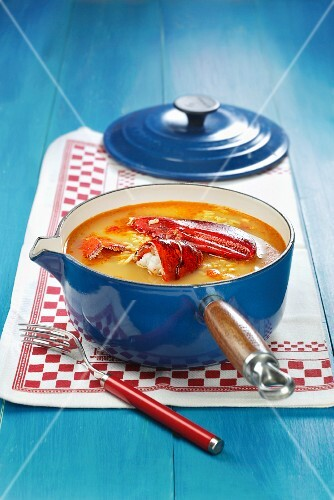Arroz caldoso with lobster (Spain)