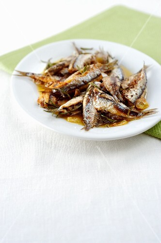 Stuffed sardines with rosemary