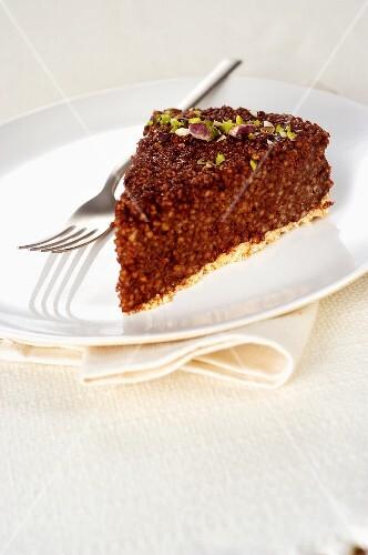 Chocolate couscous cake