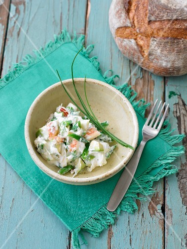 Crab salad with chives