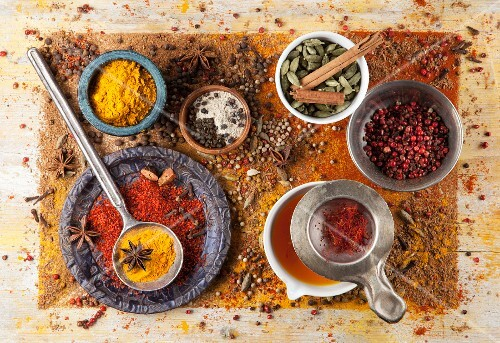 Various spices for Spanish dishes