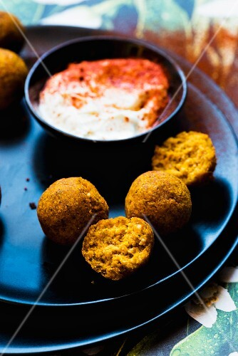 Butternut squash falafel with dip